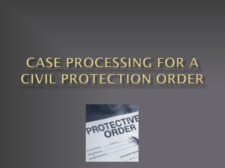 Case Processing for a Civil Protection  Order