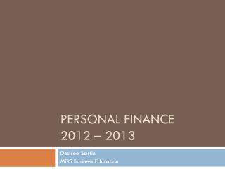 Personal Finance 2012 – 2013