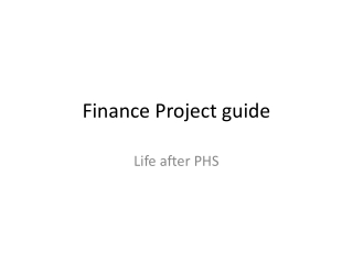 Finance Project guide