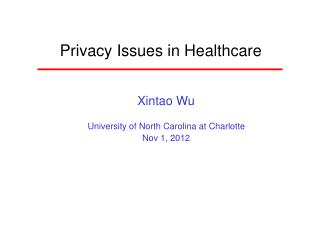 Privacy Issues in Healthcare
