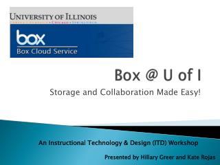 Box @ U of I