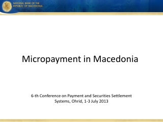 Micropayment in Macedonia
