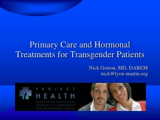 Primary Care and Hormonal Treatments for Transgender Patients
