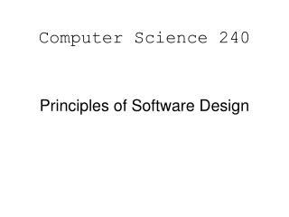 Computer Science 240