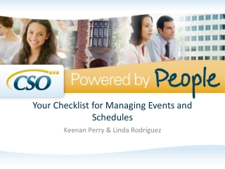 Your Checklist for Managing Events and Schedules
