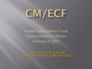 Cm/ecf
