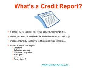What's a Credit Report?