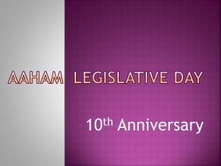 AAHAM  Legislative Day