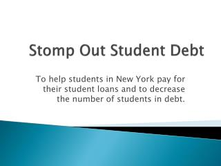 Stomp Out Student Debt