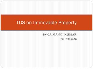 TDS on Immovable Property