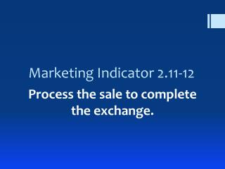 Marketing Indicator 2.11-12
