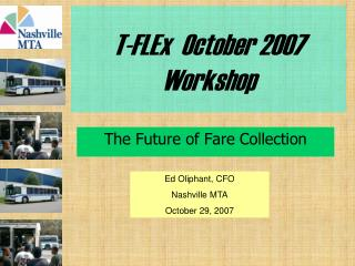 T-FLEx  October 2007 Workshop