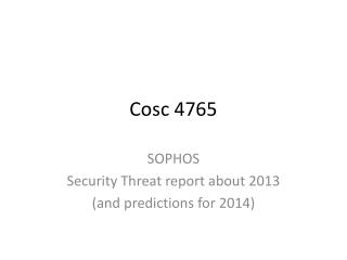 Cosc  4765