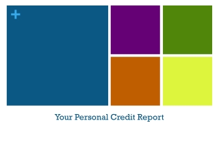 Your Personal Credit Report