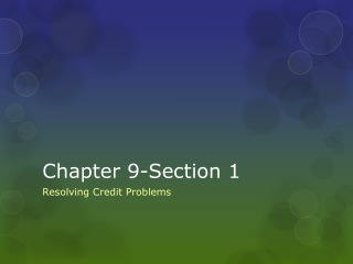 Chapter 9-Section 1