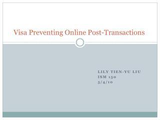 Visa Preventing Online Post-Transactions