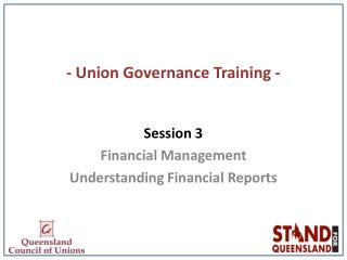 - Union Governance Training -