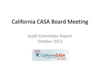 California CASA Board Meeting