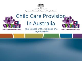 child care provision in australia