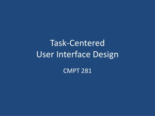 Task-Centered User Interface Design