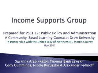 Income Supports Group