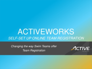 ACTIVEWORKS Self-Set up online team registration