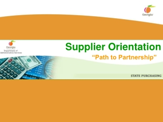 Supplier Orientation