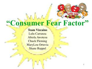 consumer fear factor