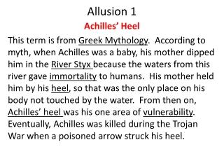 Allusion 1