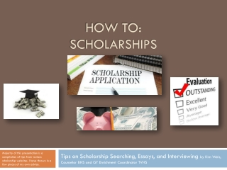 How To: Scholarships