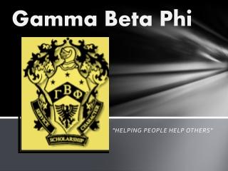 Gamma Beta Phi