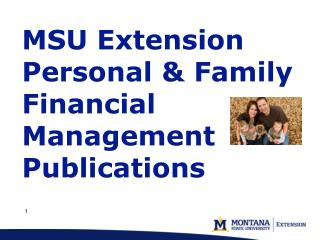 MSU Extension Personal & Family Financial Management Publications