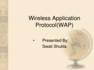 Wireless Application Protocol(WAP)