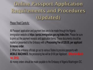 Online Passport Application Requirements and Procedures (Updated)