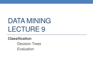 DATA MINING LECTURE 9