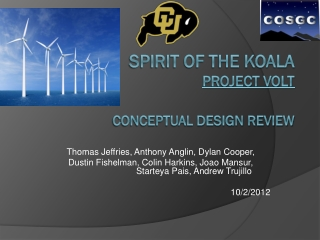 SPIRIT of the Koala Project VOLT Conceptual Design Review