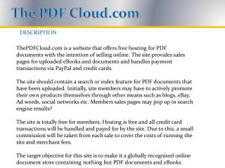 The PDF Cloud.com