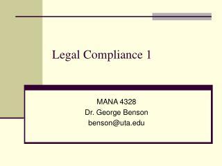 legal compliance 1
