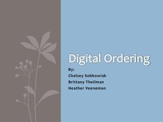 Digital Ordering