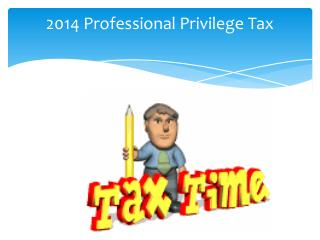 2014 Professional Privilege Tax