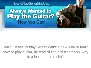guidelines on how to play a guitar