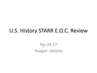 U.S. History STARR  E.O.C.  Review
