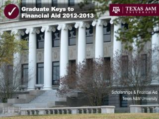 Graduate Keys to Financial Aid 2012-2013