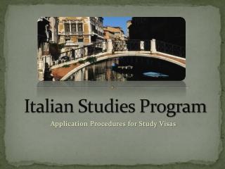 Italian Studies Program