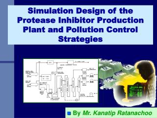 simulation design of the protease inhibitor production plant and pollution control strategies