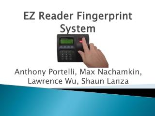 EZ Reader Fingerprint System