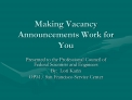 making vacancy announcements work for you