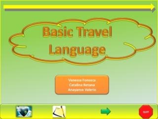 Basic  Travel Language