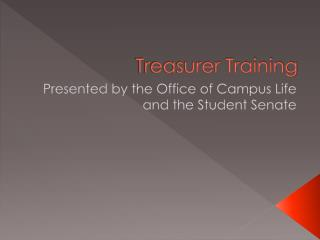 Treasurer Training