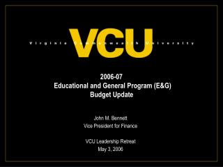 2006-07  educational and general program eg budget update